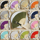 75 pcs HAND FANS Summer Silk Fabric Folding Wedding Favors Wholesale Decorations