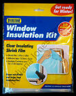 WINDOW INSULATION KIT CLEAR SHRINK FILM ADHESIVE DRAFT CONDENSATION HOME HEATING