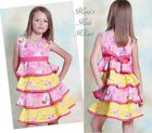 Jelly The Pug Yellow and Pink Nature Twirl Dress   2T, 3T