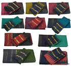 INDIAN ART SILK SARI SAREE WOVEN GOLDEN IN COLORS WITH BLOUSE PIECE DECOR