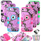 PINK TREE Camo Hybird Impact Hard Case Cover for iPod Touch 5 5th Gen - 6colors