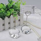 2/10PCS Heart Crystal Place Card Holder Wedding Favors Reception Table Decor New