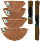 Hanging Basket Coco Liners Moulded Natural Fibre Plant Garden Roll Replacement