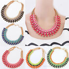 New Vintage Bubble Bib Statement Metal Chain Necklace Chunky Collar Party Choker
