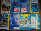 Cardiff City HOME programmes 75/76 76/77 77/78 78/79choose from list FREE UK P&P