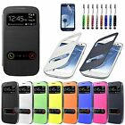S VIEW Flip Slim Case Battery Cover For Samsung GALAXY SIII S3 I9300