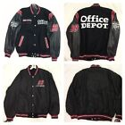 NASCAR Carl Edwards 99 JH Designs Wool & Leather Reversible Office Depot Jacket