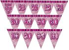 PINK GLITZ - PRISMATIC TRIANGLE 12' BUNTING (Birthday Party Decorations)