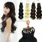5 colors 100PCS Remy Human Hair Extension Wavy Hair Easy Loops Tipped Micro Ring