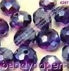 25 - 50 Glass Beads Abacus Shaped 10mm x 7mm Suncatcher Faceted Indigo Blue 6297