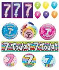 7th Birthday AGE 7 - Large Range of Party BADGES - Small/Large/Giant/Shaped