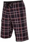 Quiksilver Men's Paid In Full 22 Board Shorts-Black Plaid