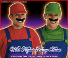 80's PLUMBERS MATE FANCY DRESS COSTUMES RED OR GREEN