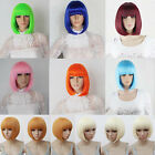 Hot New Vogue Womens Ladies Short Straight Hair Full Wigs Cosplay Party 9 Colors