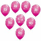 "Pk 6x Qualatex 11"" Helium Quality Birthday Party Balloons (Wild Berry/Hot Pink)"