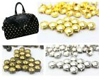 100pcs Cone 10mm Studs Spots Nailheads Rivet Spike Punk Bag DIY Conical round US