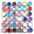 24/36/48 Pure Colors Shiny Pots Cover UV Gel Nail Art Tips Extension Manicure
