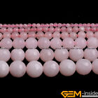 """Faceted Round Rose Jade Jewelry Making Loose Gemstone beads strand 15"""""""