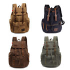 Men/Women's Vintage Canvas Backpack Rucksack Satchel School Bag Hiking Bag New