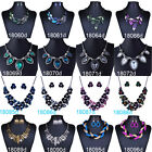 New Womens Bib Statement Vintage Necklace Bracelet Jewelry Chunky Collar Party