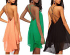 Sexy Women Chiffon Backless Strapless Back Clubwear Party Evening Mini Dress
