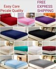Percale Deep Fitted Sheet Bed Sheet 30cm Single Double King Sking or Pillow Case image