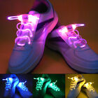 Waterproof LED Light Up Shoelaces Shoestrings Flash Glow Stick Party Disco PUB