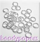 500 - 2000 Small Round Open Jump Rings Open 4 mm Silver Colour Nickel Free 4004