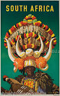 South Africa vintage print poster, large 4 sizes available, Airline 183