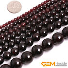 "Natural Dark Red Garnet Gemstone Round Beads For Jewelry Making 15"" 6mm 8mm 10mm"