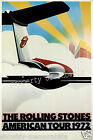 The Rolling Stones vintage 1972 tour print poster, 4 sizes available-Airline 209