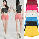 New Summer Fashion Style Women's Casual Candy Colour Shorts Elastic Jeans Pants