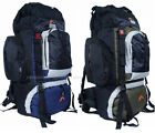 Large Camping Rucksack Backpack Hiking Festival Day Back Bag Blue Green 50L New