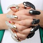 5 x False Nail Black Crystal Claw Paw Talon Charming Fashion Finger Ring 2 Color