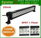 22inch 120W Epistar COMBO LED Light Bar Off-road Driving Lamp SUV Boat 4WD Truck