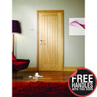 Internal oak cottage style  Ready lacquered mexicano door with free handles