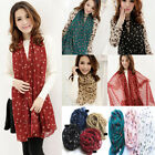 Fashion Women Girls Sweet Polka Dot Scarf Chiffon Scarves Hijab Long Wrap Shawl