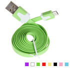 1M Flat Micro 5 Pin USB Charging & Data Sync Cable for Mobile Phones  - 8 Color