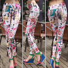 Woman's Nylon+Spandex 17 Styles Printing Leggings Sexy Stretchy Tight Pants K65