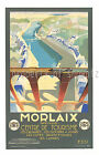 Morlaix Rare vintage French Railway ad print poster, 4 sizes available-Train 08