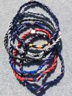 """Double-Rope Titanium Rope Tornado MLB Baseball Team Necklace 22"""" SHIPS FAST!!"""