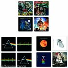 Coldplay | Iron Maiden | Pink Floyd | Rolling Stones Set of 4 Drinks Coasters