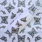 New 3D Nail Art Tip Butterfly Lace Flower Manicure Stickers Decal DIY Decoration