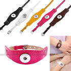 Fashion Chunk PU Leather Buckle Bracelet Fit Charm Button Beads Snap DIY Jewelry
