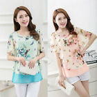 Fashion Womens Chiffon Tops Lady Batwing Sleeve Shirt Casual Blouse OL Career