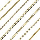375 Solid Yellow 9ct Gold Child Ladies Bracelet Various Links Widths Lengths