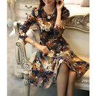 Women's Fashion Long Sleeve Floral Sheath Bodycon Evening Party Cocktail Dress