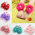 Baby Girl Newborn Kids Band Flower Children Shoes Socks Photo Prop Accessories