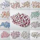 20pcs 10mm Round Chic Spacer Loose Ceramic Bead Ink Flower Colorful Style Beads