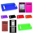 Flexible Soft Gel Silicone TPU For LG Optimus Logic / Dynamic Phone Cover Case
